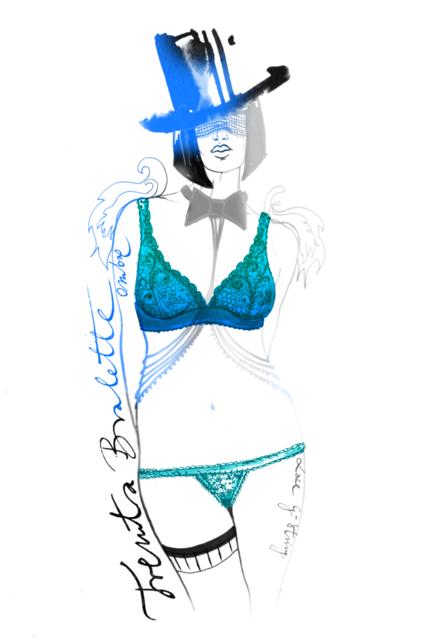 Artist Sonia Hensler art for Cosabella: Trenta Ombre Lace Bralette