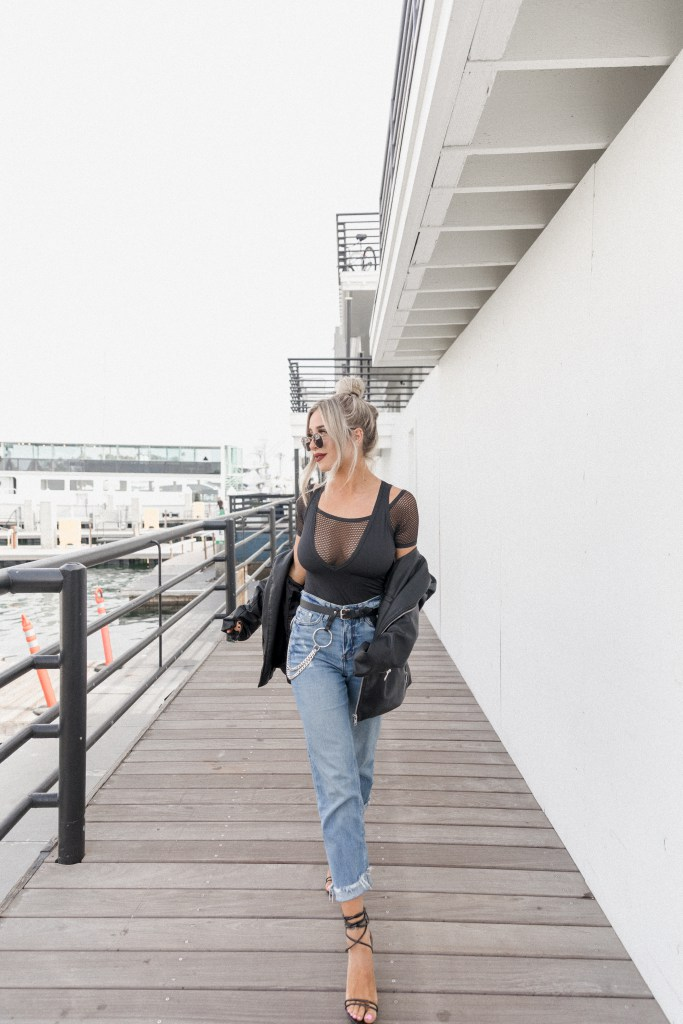 Styled Seed blogger Cosabella edgy bodysuit