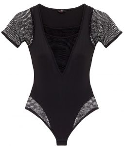 cosabella bisou move netted bodysuit