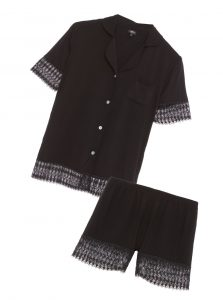 cosabella Lunna sleep short sleeve top and boxer set